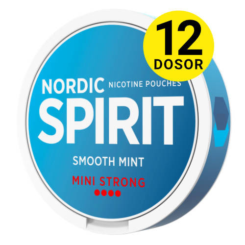 Nordic Spirit mini smooth mint strong, 12-pack