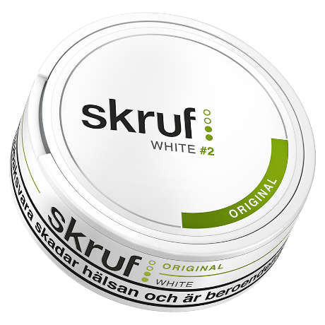 Skruf original white, portion