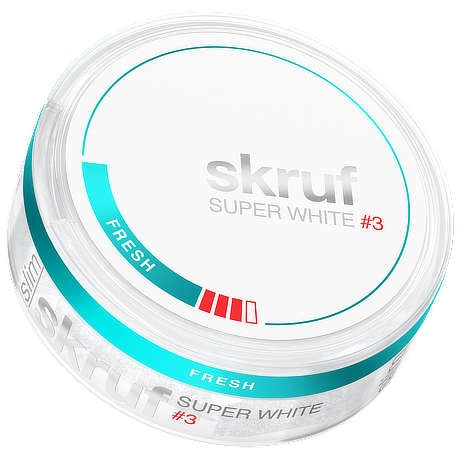 Skruf Fresh stark super white slim